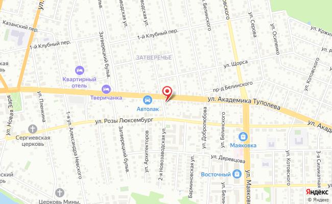Карта расположения пункта доставки Тверь Академика Туполева в городе Тверь