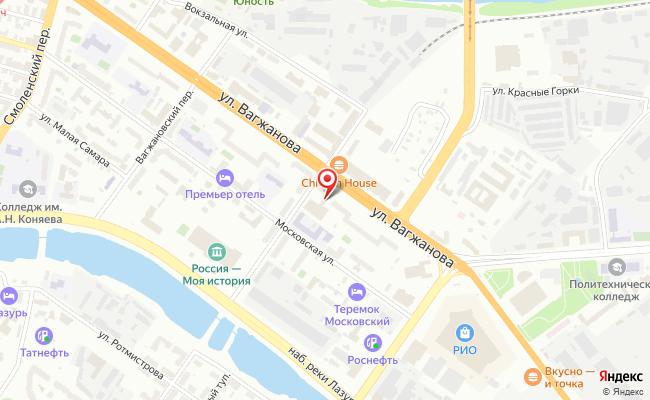 Карта расположения пункта доставки Тверь Вагжанова в городе Тверь