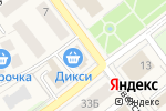 Схема проезда до компании Дикси в Товарково