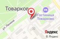 Схема проезда до компании Среднерусский банк Сбербанка России в Товарково