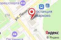 Схема проезда до компании Чистюля в Товарково
