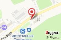 Схема проезда до компании Шиномонтажная мастерская в Товарково