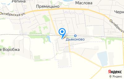 Местоположение на карте пункта техосмотра по адресу Курская обл, пгт Прямицыно, ул Садовая, д 57В