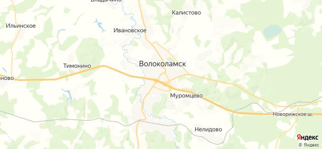 Волоколамск - объекты на карте
