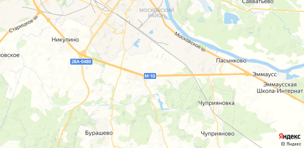 Белавино на карте