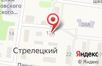 Схема проезда до компании Стрелецкая врачебная амбулатория в Стрелецком