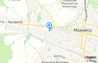 Местоположение на карте пункта техосмотра по адресу Московская обл, г Можайск, ул Бородинская, д 39