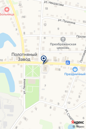 Магазин мебели ибытовой техники на карте Полотняного Завода