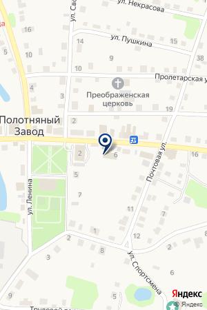 Отделение почтовой связи на карте Полотняного Завода