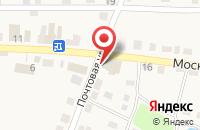 Схема проезда до компании Среднерусский банк Сбербанка России в Полотняном Заводе