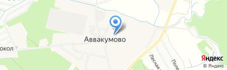Аввакумовский детский сад на карте Аввакумово