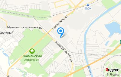 Местоположение на карте пункта техосмотра по адресу г Орёл, ул Высоковольтная, д 1 стр а