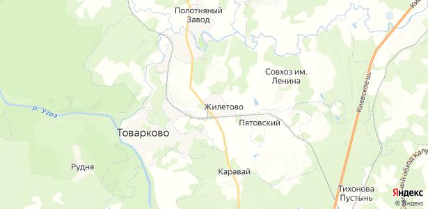 Жилетово на карте