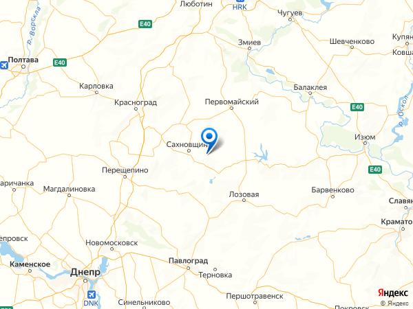 село Зелёный Клин на карте