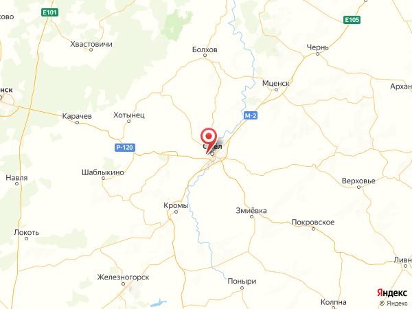 поселок Зареченский на карте