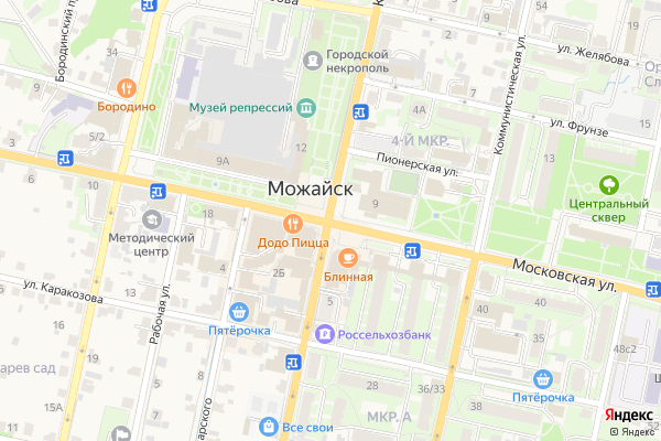 Ремонт телевизоров Город Можайск на яндекс карте