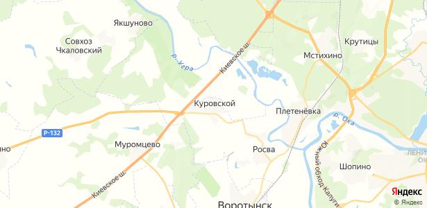 Куровской на карте