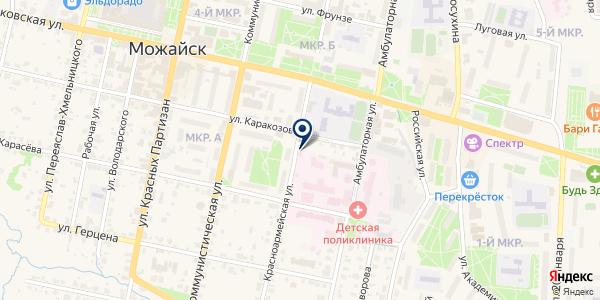 МОЖАЙСКИЙ ПРОТИВОТУБЕРКУЛЕЗНЫЙ ДИСПАНСЕР на карте Можайске