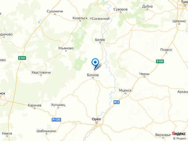 поселок Калинина на карте