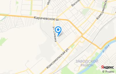 Местоположение на карте пункта техосмотра по адресу г Орёл, ул Черепичная, влд 24