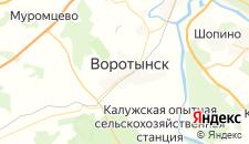 Гостиницы города Воротынск на карте