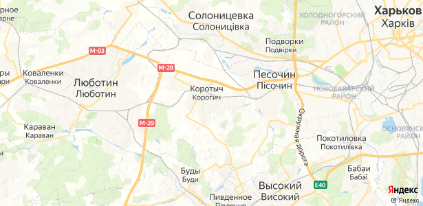 Коротыч на карте