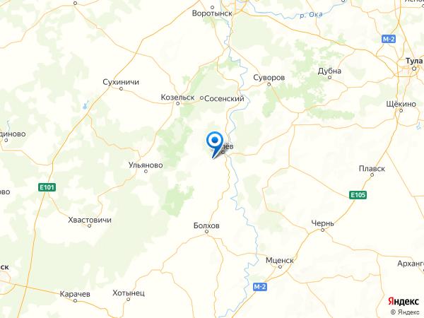 посёлок Ровно на карте