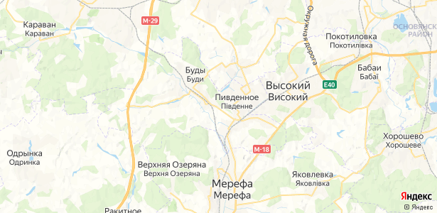 Буды на карте