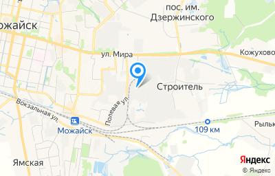 Местоположение на карте пункта техосмотра по адресу Московская обл, г Можайск, ул Мира, д 98