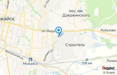 Местоположение на карте пункта техосмотра по адресу Московская обл, г Можайск, ул Мира, д 105