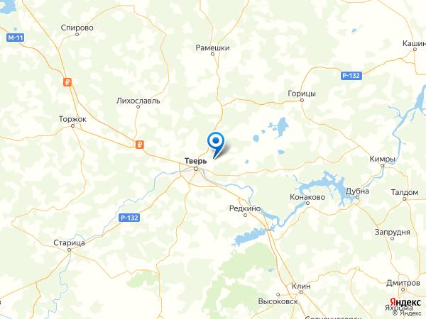 посёлок Сахарово на карте
