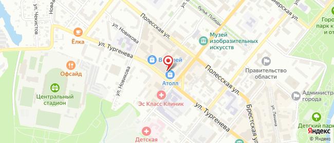 Карта расположения пункта доставки Орел Октябрьская в городе Орёл