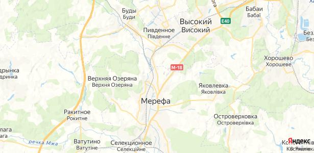 Мерефа на карте