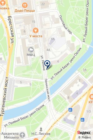 ЮРИДИЧЕСКОЕ АГЕНТСТВО ВИКТОРИЯ на карте Орла