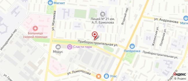 Карта расположения пункта доставки Орел Приборостроительная в городе Орёл