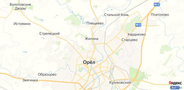 Жилина на карте