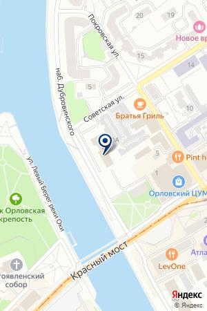 ОРЛОВСКАЯ ИНВЕСТИЦИОННАЯ ЗЕМЕЛЬНАЯ КОМПАНИЯ на карте Орла