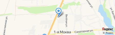 Моква на карте 1-й Моквы