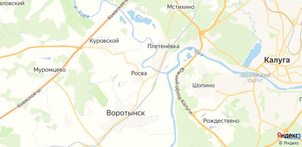 Угра на карте