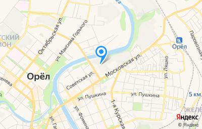 Местоположение на карте пункта техосмотра по адресу г Орёл, ул Герцена, влд 6