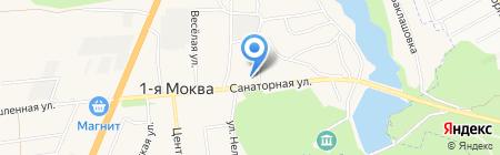 Моковская средняя общеобразовательная школа на карте 1-й Моквы