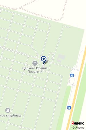 Южное кладбище на карте 1-го Цветово