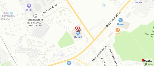 Карта расположения пункта доставки Орел Михалицына в городе Орёл