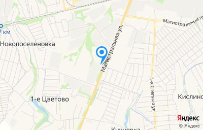 Местоположение на карте пункта техосмотра по адресу г Курск, ул Магистральная, д 23
