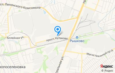 Местоположение на карте пункта техосмотра по адресу г Курск, пр-кт Кулакова, д 107