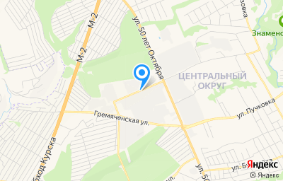 Местоположение на карте пункта техосмотра по адресу г Курск, ул 50 лет Октября, д 124А