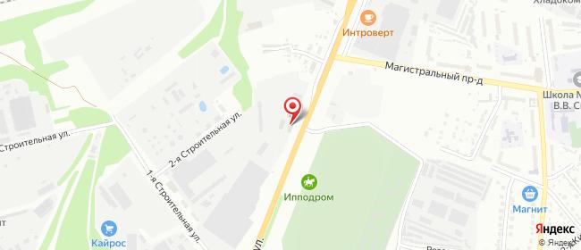 Карта расположения пункта доставки Курск Магистральная в городе Курск