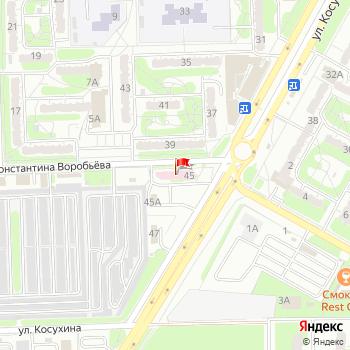 г. Курск, ул. Косухина,45 на карта