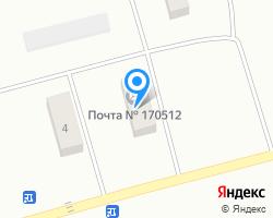 Схема местоположения почтового отделения 170512