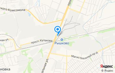 Местоположение на карте пункта техосмотра по адресу г Курск, пр-кт Кулакова, д 150